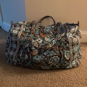 Vera Bradley Large Fabric Duffel Bag (Java Blue)